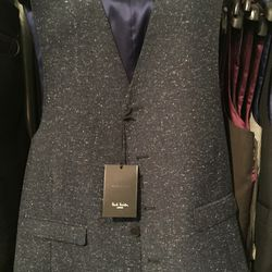 Men's tailored waistcoat, UK/EUR size 44/54, $60 (from $565)
