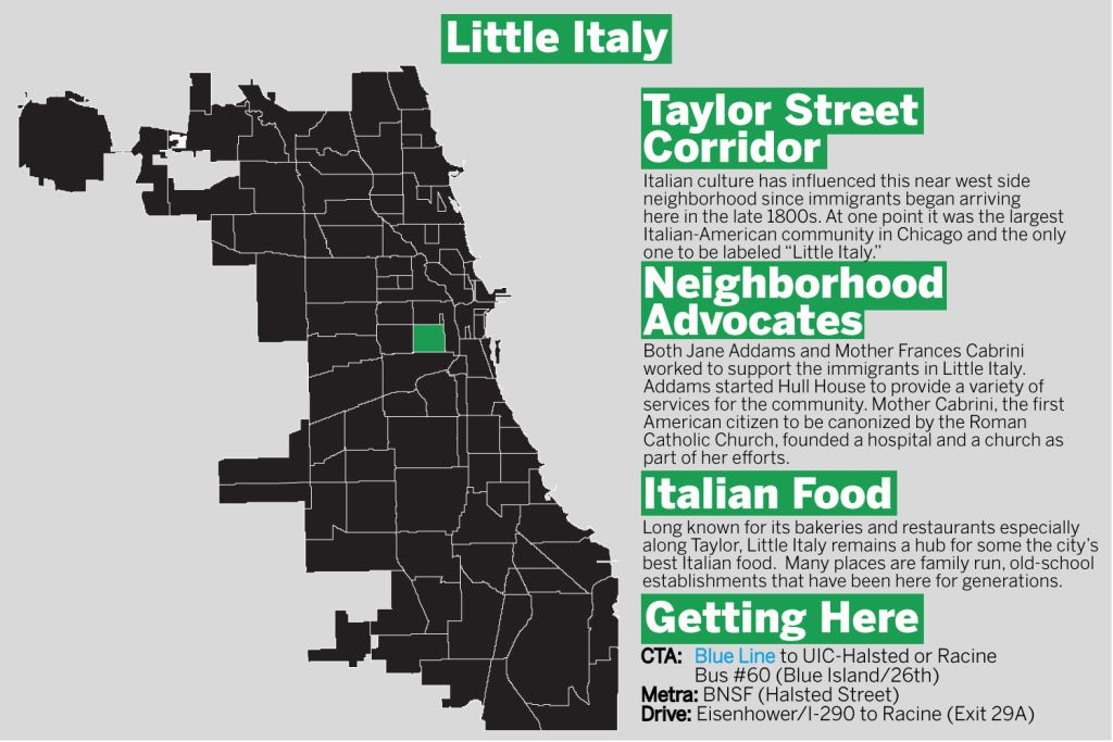 Little Italy is one of several Italian-American neighborhoods throughout Chicago. | Tanveer Ali/Sun-Times