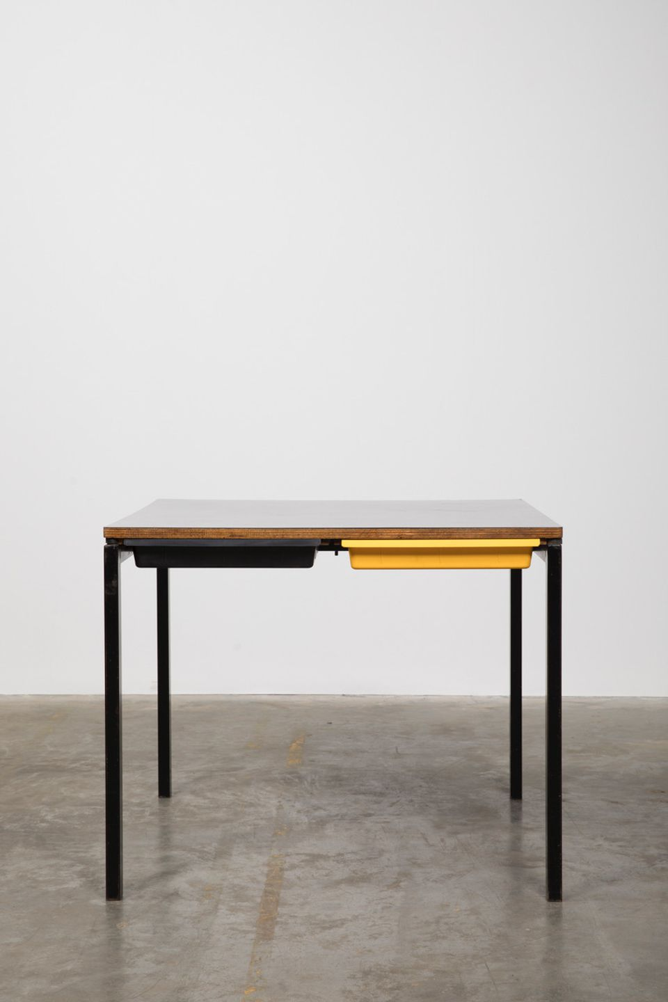 Desk with small drawers