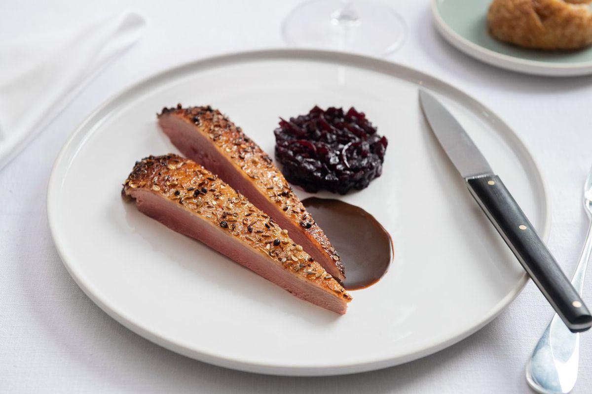 Davies and Brook serves Daniel Humm's Eleven Madison Park roast duck at Claridge's Hotel