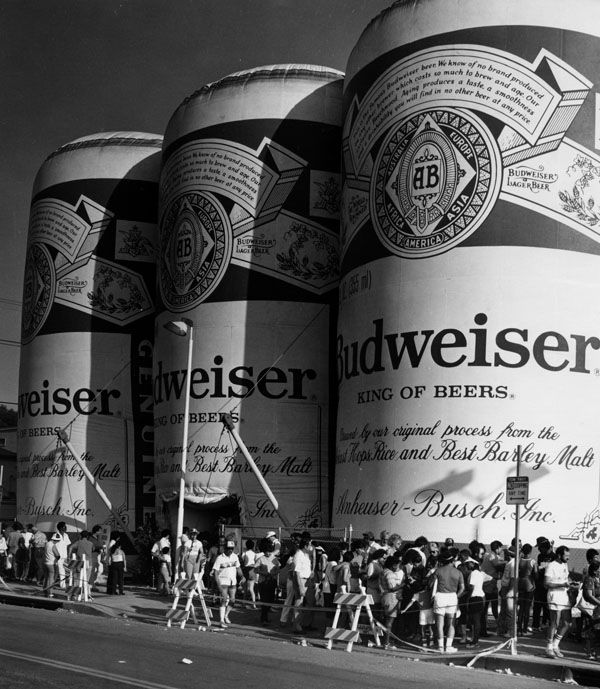 Olympic Budweiser cans, 1984