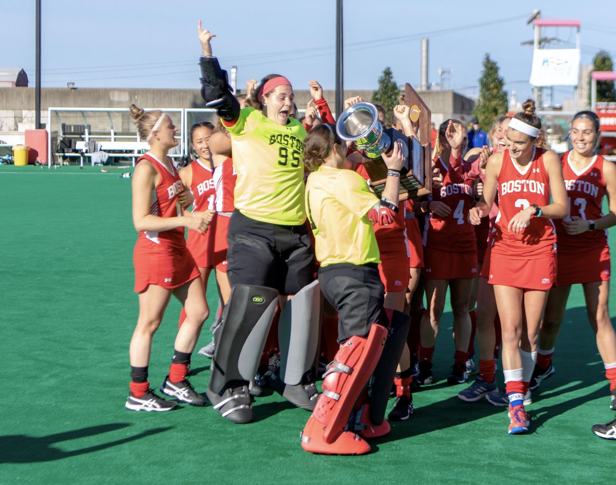 the latest 5c0a0 3ae31 Gay goalie saves Boston field hockey in Patriot League title ...