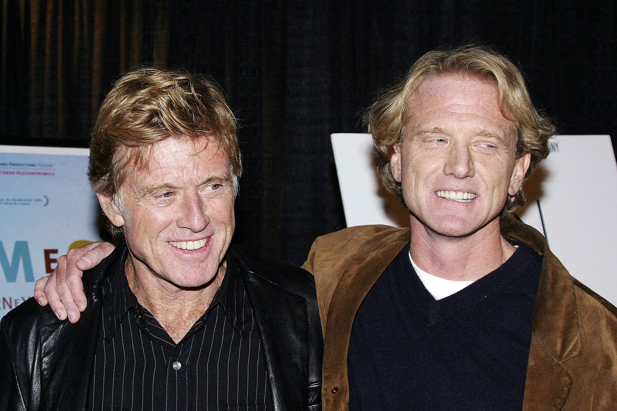 """Robert Redford and his son James Redford attend the """"Spin"""" screening at the AFI Fest in 2003 in Hollywood, California."""