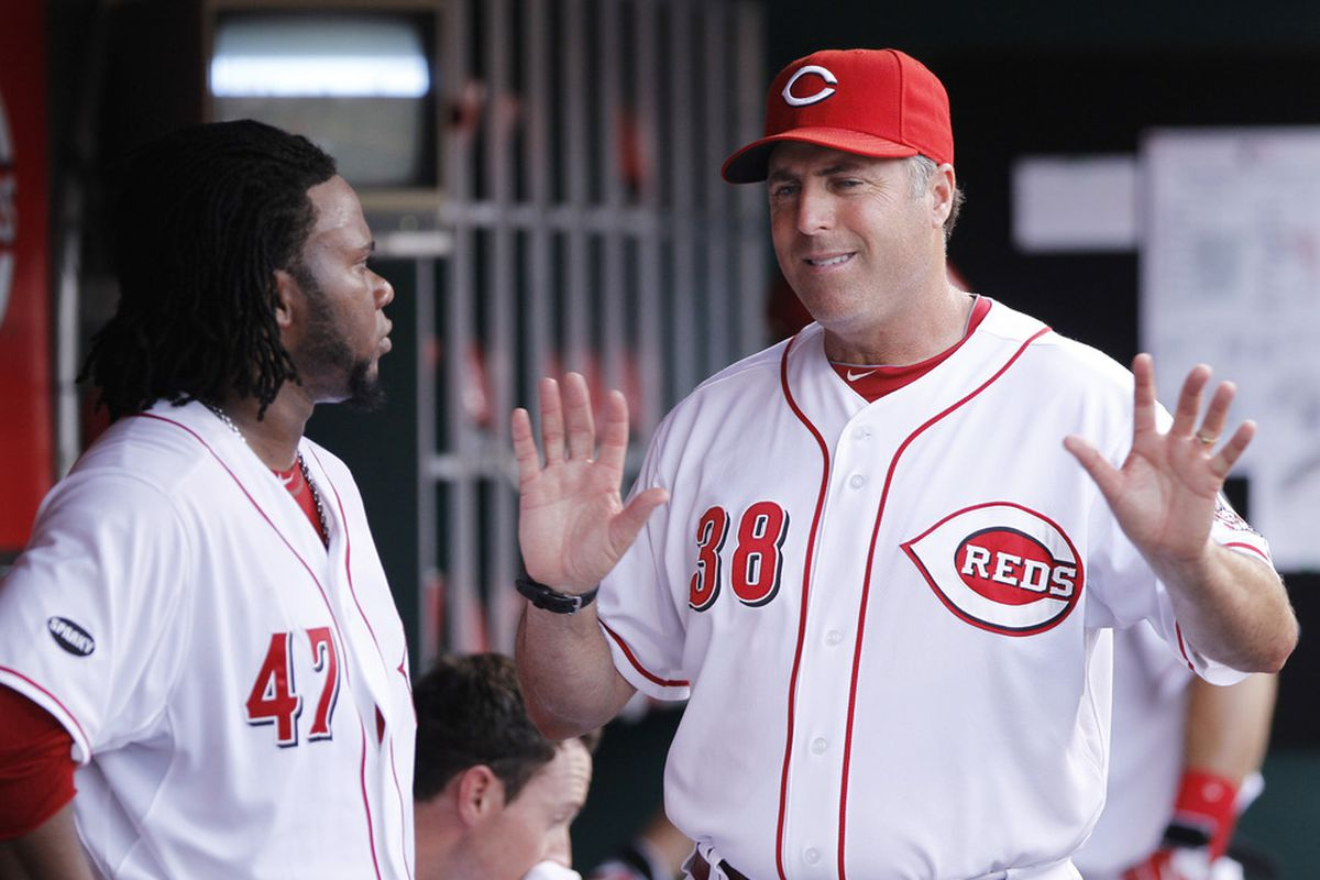 """""""Slow down there, Reds fans."""""""