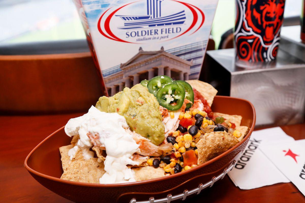 Nachos is a football shaped boat dish.