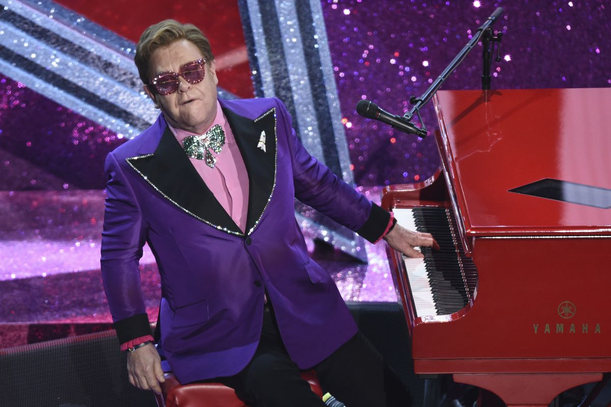 """Elton John performs """"(I'm Gonna) Love Me Again"""" nominated for the award for best original song from """"Rocketman"""" at the Oscars in February."""