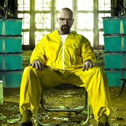 """Bryan Cranston stars in the cable series """"Breaking Bad"""" as a chemistry teacher-turned-drug dealer."""