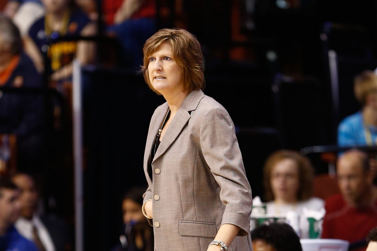 Connecticut Sun head coach Anne Donovan was pleased not only with Alex Bentley's 21 points, but also with her defense on Indiana Fever guard Briann January.
