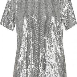 Balmain sequin T-shirt, $534.75 (orig. $3.565)