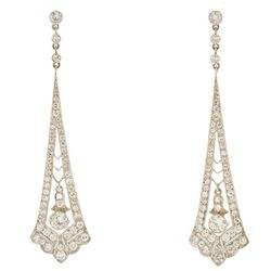 """Estate collection Diamond Deco earrings, <a href=""""http://mflynnjewelry.com/product_info.php?cPath=3&products_id=23704"""">$5040</a>"""