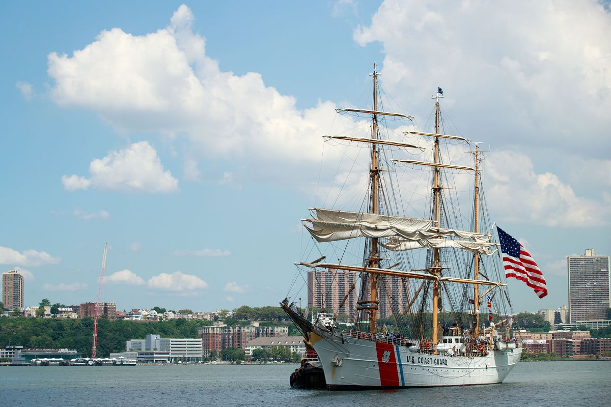 Coast Guard Cutter Eagle Arrives In New York Commemorating 70 Years Since Voyage From Germany