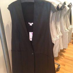 Leather vest, $199