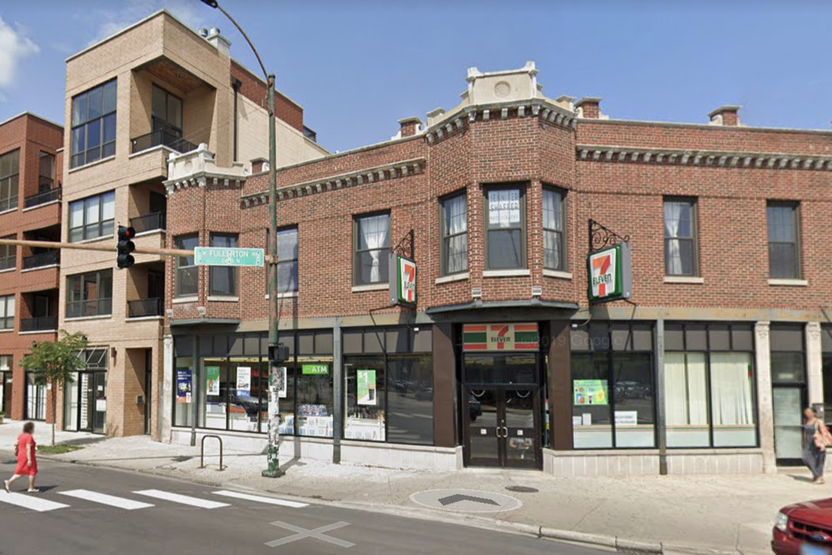 The 7-Eleven at 2401 N. Milwaukee Ave. was robbed at gunpoint March 24, 2020, in Logan Square on the Northwest Side.