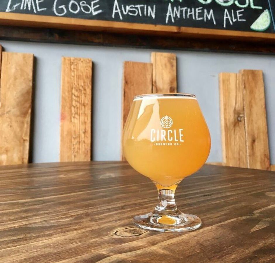 A beer from Circle Brewing Company
