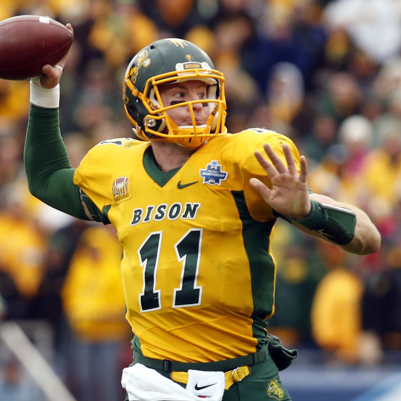 If The Rams Pick Carson Wentz At No 1 Ndsu Will Make Small