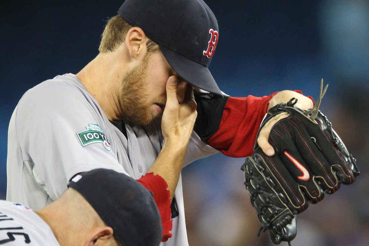 Jun 3, 2012; Toronto, ON, Canada; Boston Red Sox starting pitcher Daniel Bard (51) during their game against the Toronto Blue Jays at the Rogers Centre. Mandatory Credit: Tom Szczerbowski-US PRESSWIRE