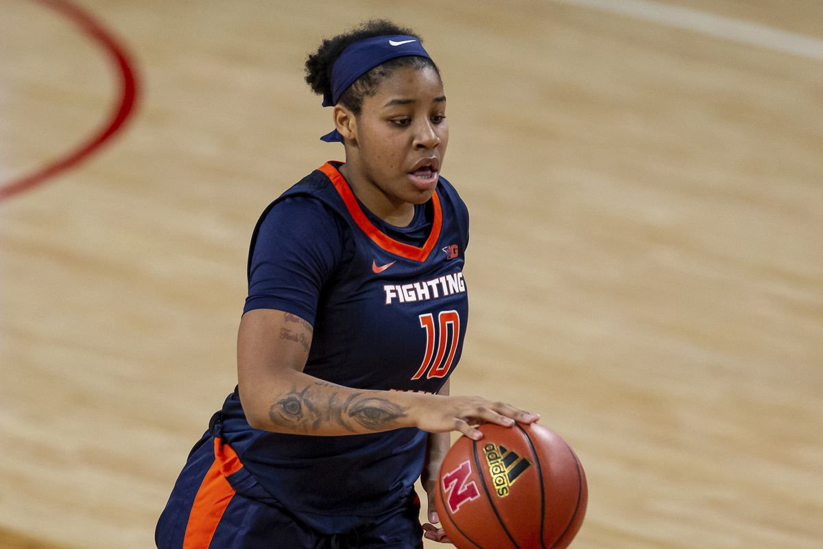 Jeanae Terry scored 17 points in Illinois' loss to No. 15 Michigan.