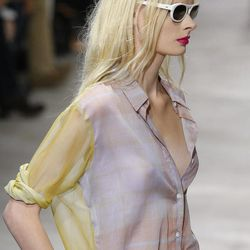 EDS NOTE NUDITY A model wears a creation by Belgian fashion designer Dries van Noten for the fashion house's Spring Summer 2013 ready-to-wear collection, for Fashion Week, in Paris, Wednesday, Sept.26, 2012.