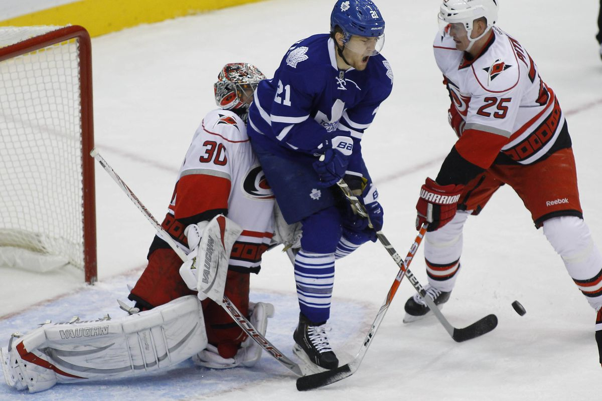 Cam Ward stands tall against the Leafs at the ACC