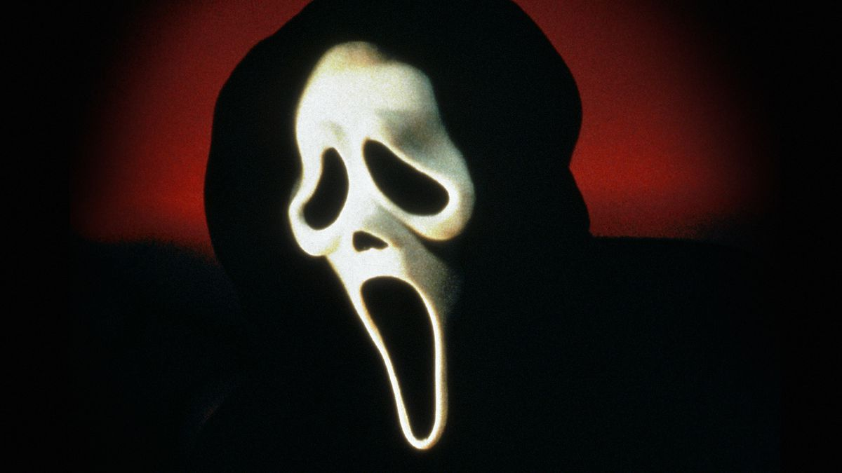 Scary mask from the movie Scream