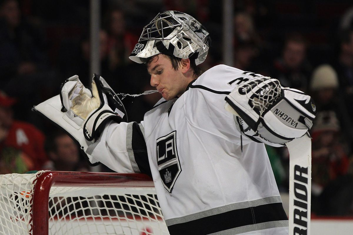 Jonathan Quick's numbers haven't been great, but the Kings are winning because they're scoring more than they're allowing.  Maths!