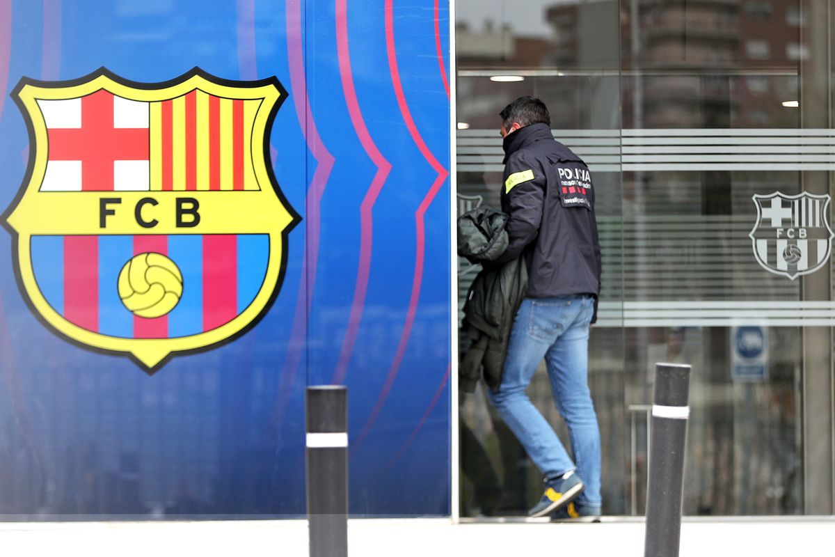 Police At The FC Barcelona's Office For The Barcagate
