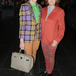 With Susan Sarandon at Chris Benz. Photo by Jeff Gentner/Getty Images.