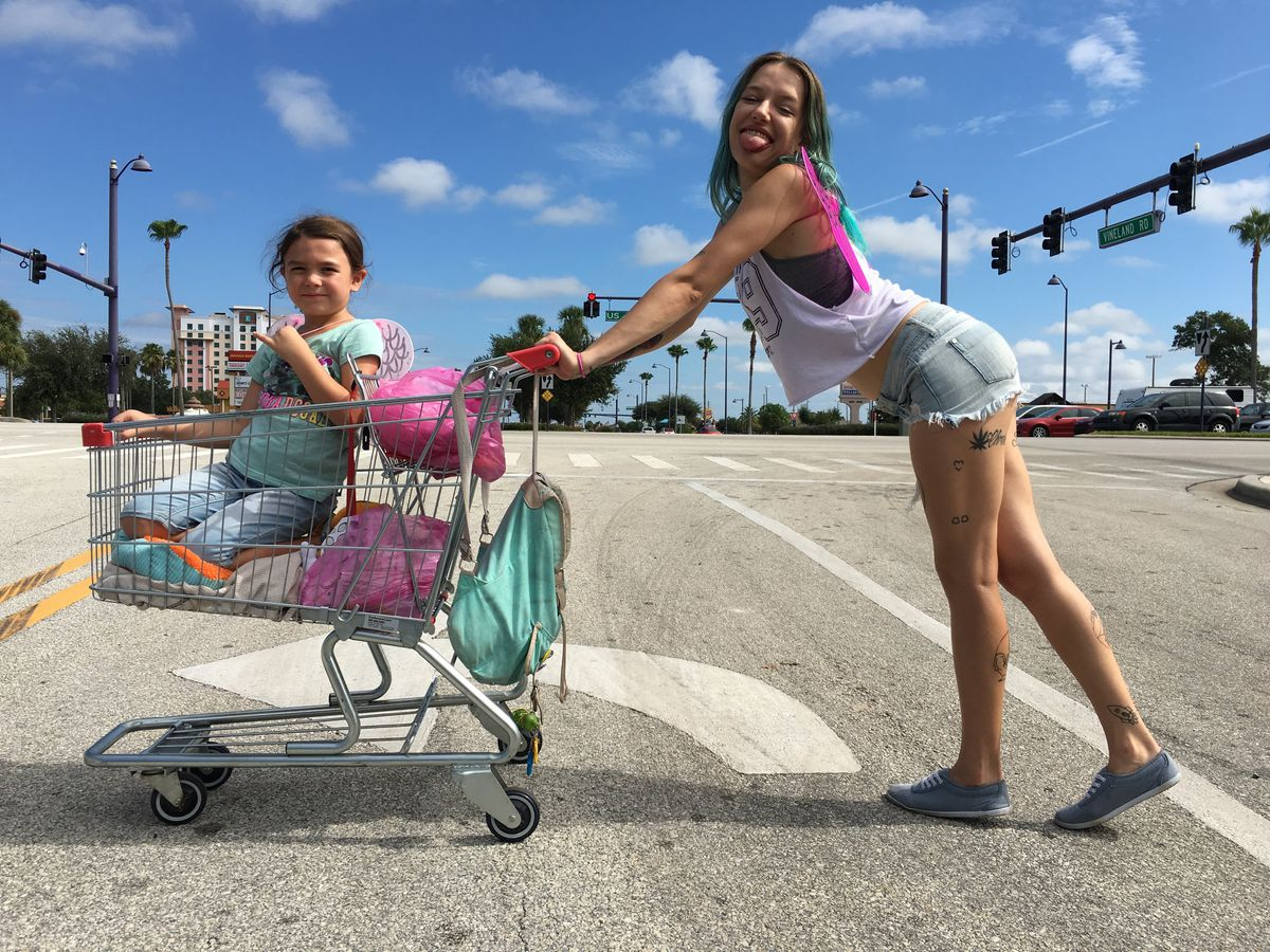 A scene from Sean Baker's The Florida Project