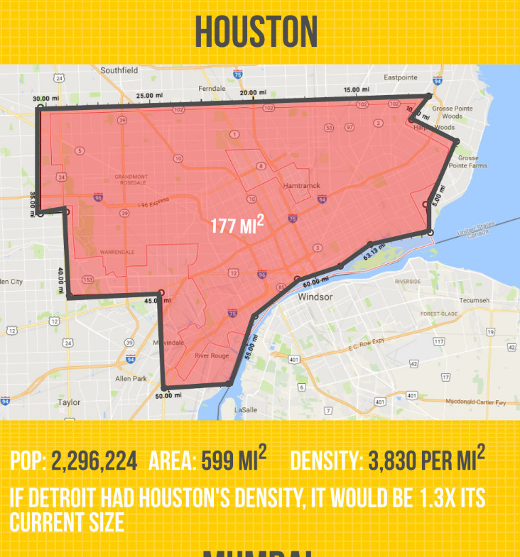 New Maps Compare Detroit S Population Density To Cities Around The World Curbed Detroit