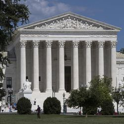 The Supreme Court is seen on the last day of its term, in Washington, Monday, June 26, 2017. (AP Photo/J. Scott Applewhite)