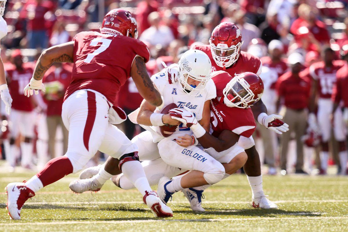 NCAA Football: Tulsa at Arkansas