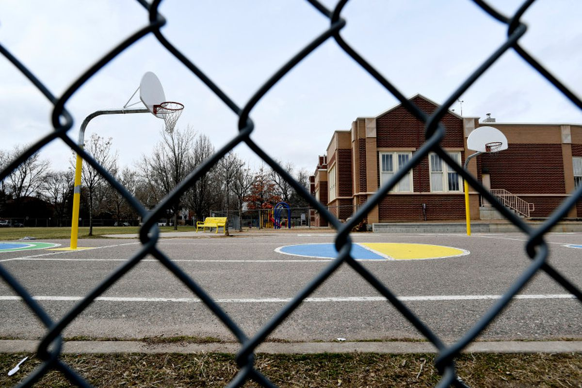 Edison Elementary School in Denver, the first to close in the city due to the outbreak. (Photo by Helen H. Richardson/The Denver Post)
