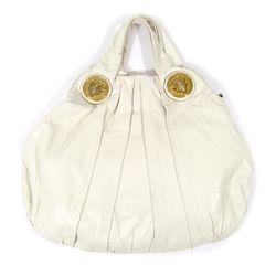 Gucci white leather tote