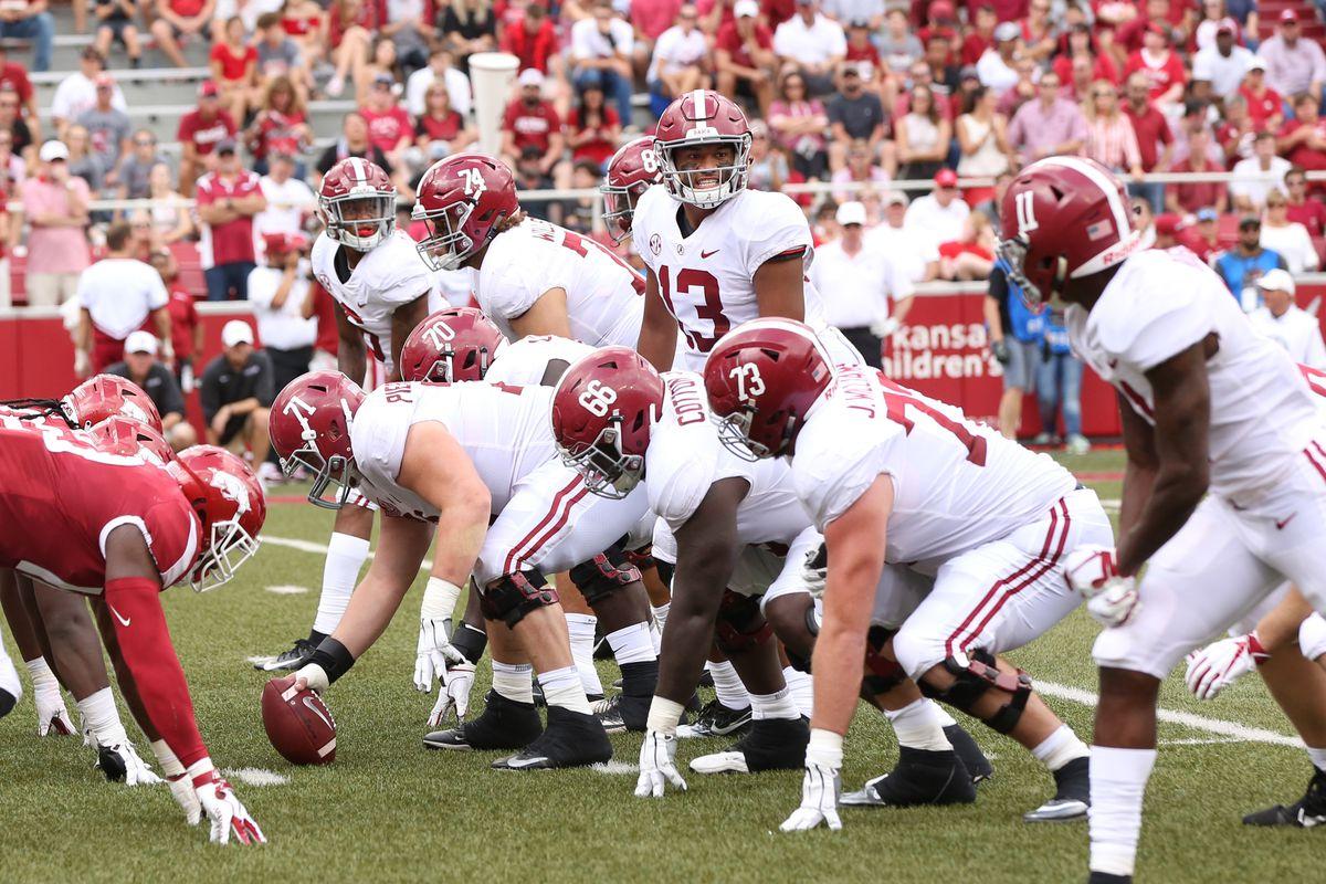NCAA Football: Alabama at Arkansas