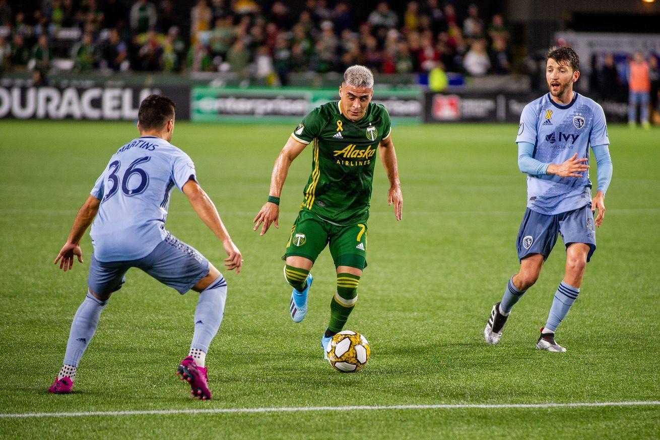 SOCCER: SEP 07 MLS - Sporting Kansas City at Portland Timbers