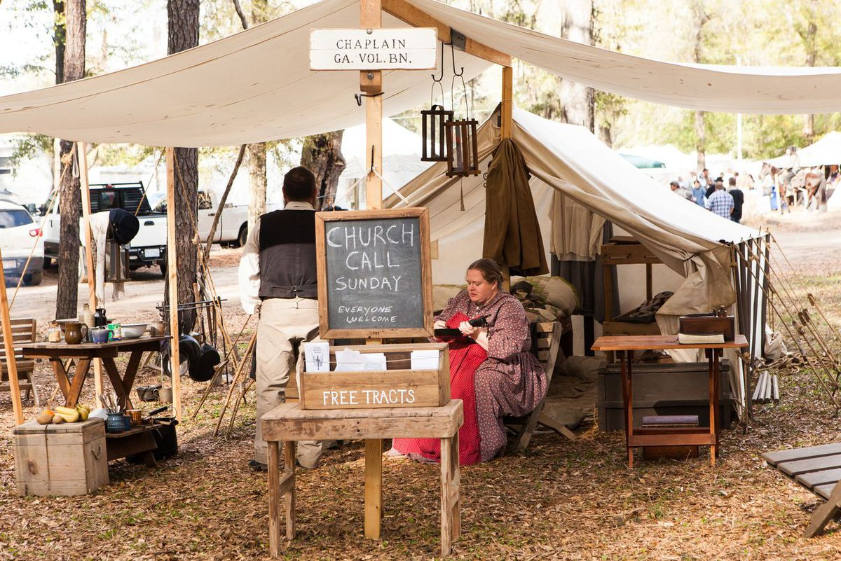 Dressing for a Civil War Reenactment in South Carolina