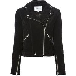 "<b>Pop Cph</b>, <a href=""http://www.farfetch.com/shopping/women/pop-cph-suede-biker-jacket-item-10766100.aspx?storeid=9298&ffref=lp_39_"">$377</a>"