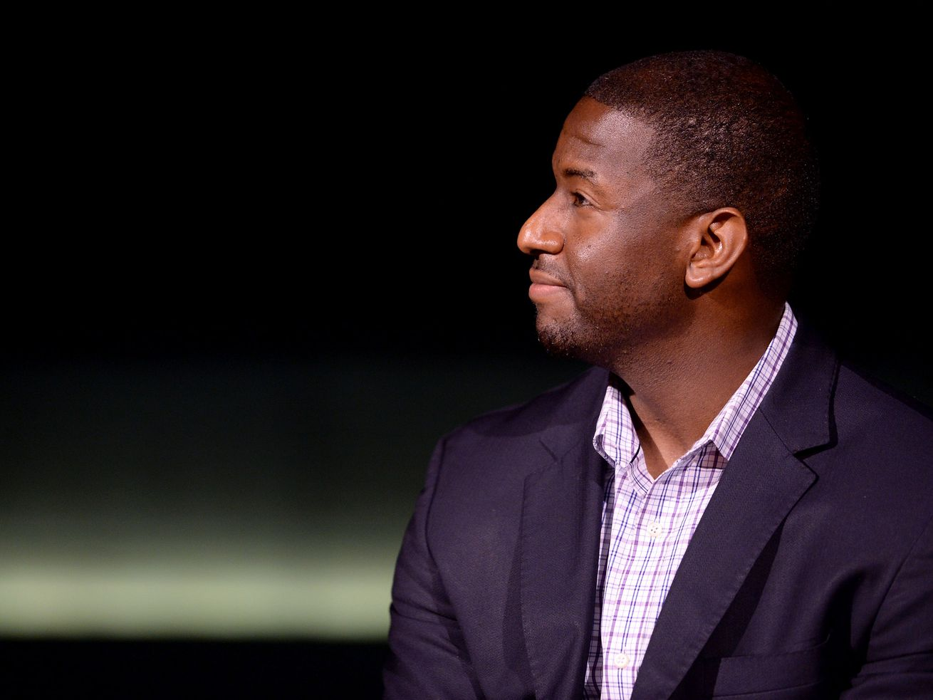 Tallahassee Mayor Andrew Gillum at a get-out-the-vote event on March 10, 2016, in Santa Monica, California.