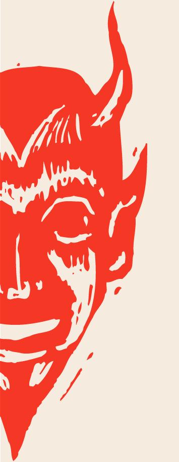 Illustration of a devil.