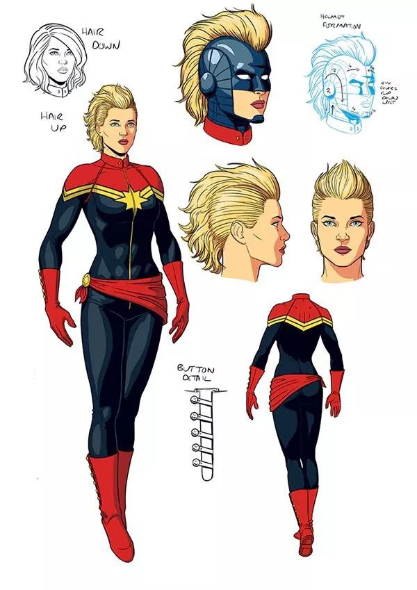 Captain Marvel Why Brie Larson S Suit Isn T Sexy Vox This red and navy collarless jacket features a metallic gold design based on her captain marvel costume. captain marvel why brie larson s suit