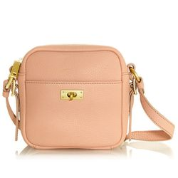 "<b>J. Crew</b> Mini bag in rose dust, <a href=""http://www.jcrew.com/womens_category/handbags/PRDOVR~26524/26524.jsp"">$148</a>"