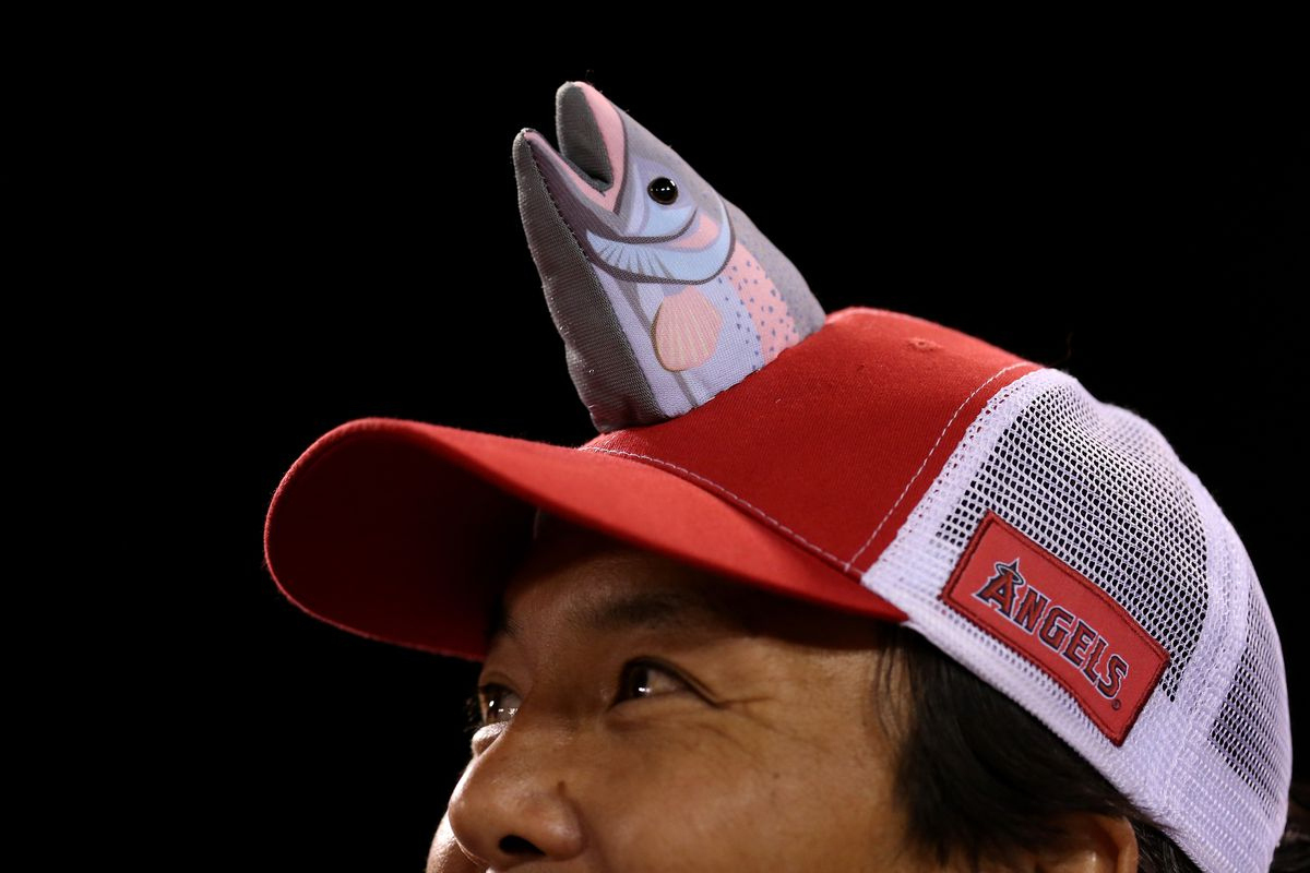 This is a random picture of a Mike Trout hat