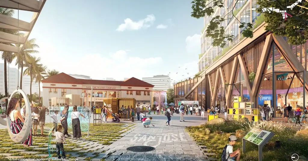Renders of Google's gigantic San Jose campus show how it could feel more like a neighborhood