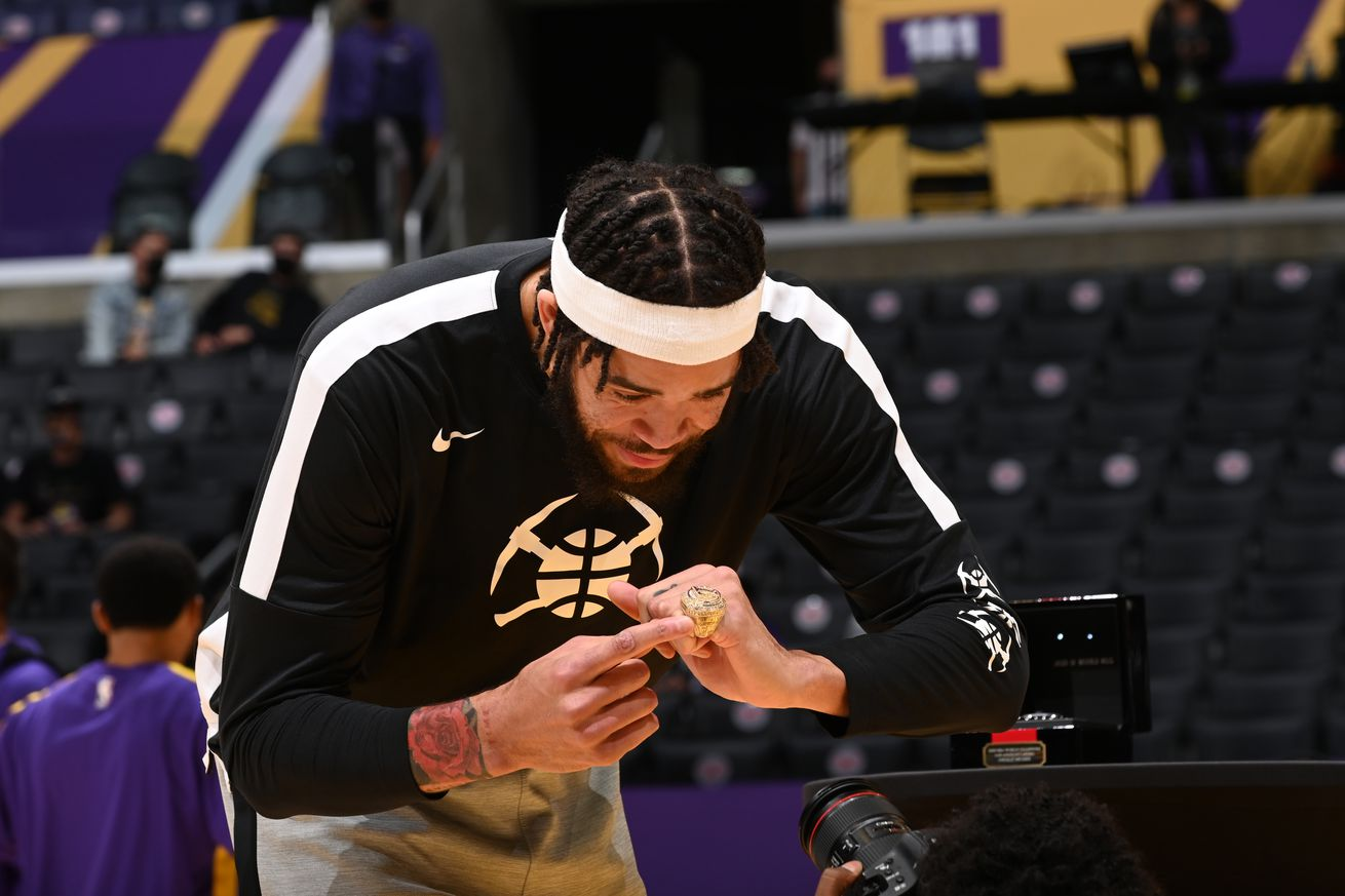 JaVale McGee feels appreciation from Lakers fans after getting championship ring