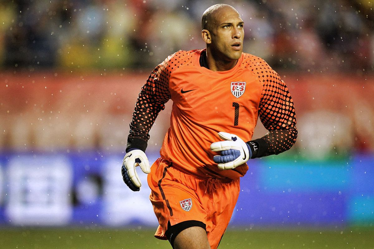 U.S. goalkeeper Tim Howard gets my Man of the Match award in the United States' 1-0 victory over Honduras. (Photo by Marc Serota/Getty Images)
