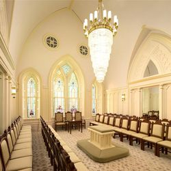 A sealing room inside the Provo City Center Temple.