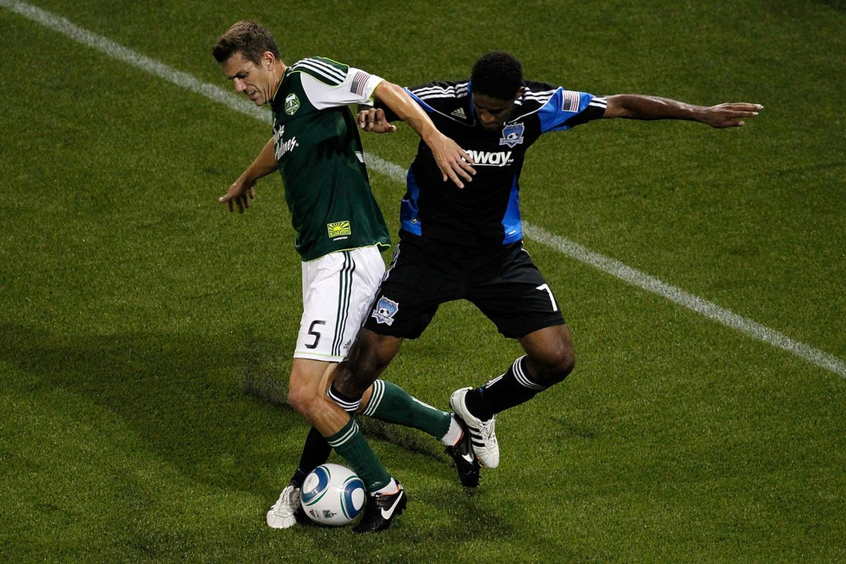 Khari Stephenson looks to get it going against his former club side AIK of Sweden as the San Jose Earthquakes continue play in the Portland Tournament.