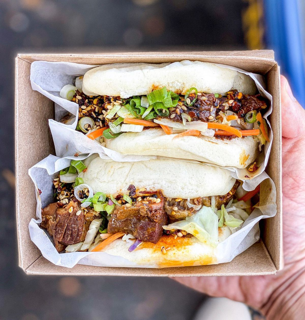 Chinese buns filled with beef and pork.