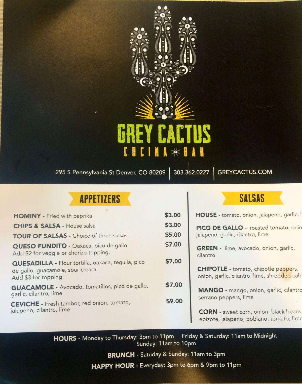 Grey Cactus Cocina Y Bar Opens In Wash Park - Eater Denver