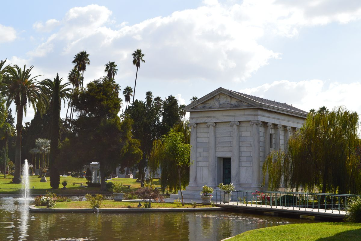 View across Hollywood Forever